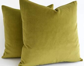 Any Size Sage green velvet throw pillow  Euro sham velvet Lumbar pillow Green velvet pillow velvet cushion green pillow velvet cushion cover