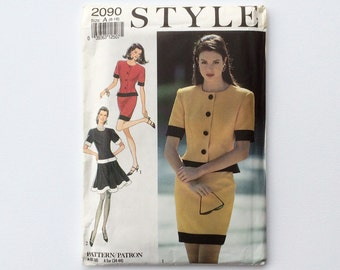FF 1990s Skirt Suit Sewing Pattern Multi Sized - B32 1/2 B34 B36 B38 B40 : Style 2090