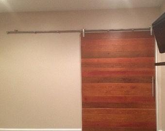 Horizontal Plank Cedar Barn Door