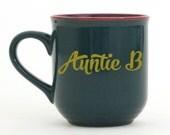 Auntie B Mug - Font 8 - Teal Mug
