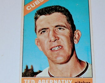 VINTAGE 1965 Topps Ted Abernathy Chicago Cub Gd-Vg