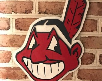 Cleveland Indians man cave sports bar office sign