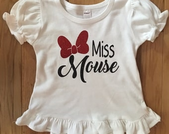 Miss mouse ruffle shirt