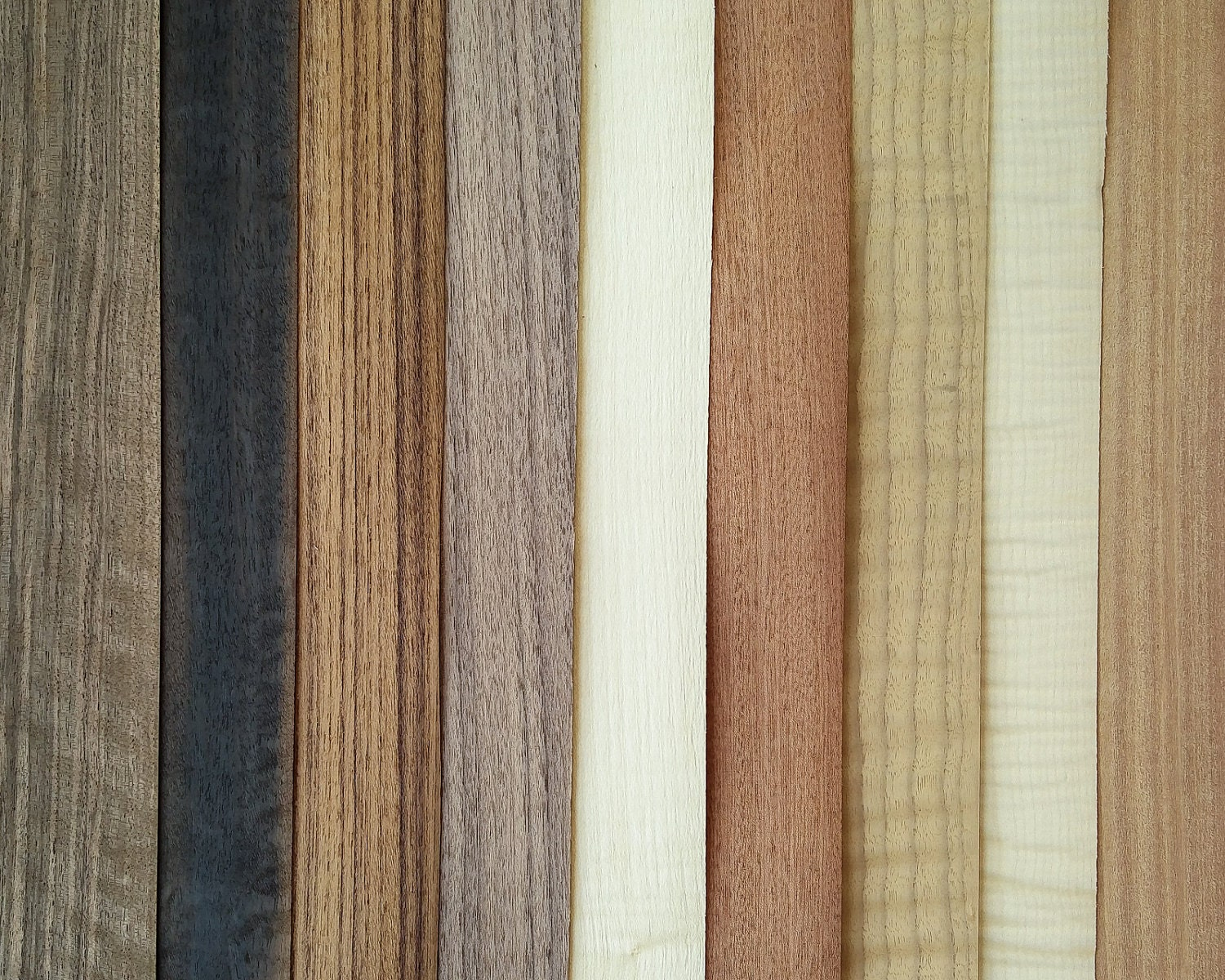 The Marquetarian's Mix #2, 9 sheets of real wood veneer [M6 ...