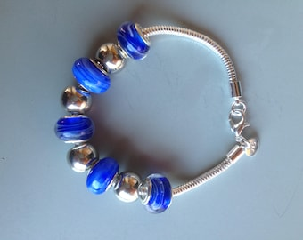the blue silver snake