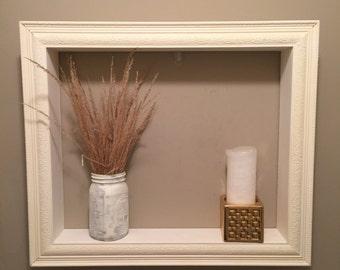 "20""x 24"" white frame/ shelf"