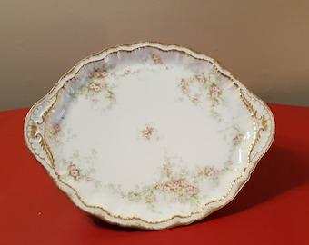 """RARE Antique Vintage Theodore Haviland Limoges LARGE  11"""" Platter Schleiger 1240 (?), Vintage French Haviland Limoges Platter, Serving Tray"""