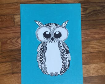 Blue Owl painting