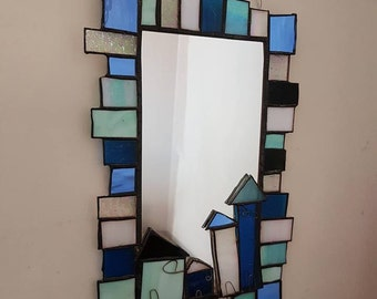 Sale 50 Off Family Tree Stained Glass Mirror W Picture