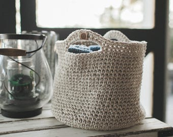 Soft Twine Crochet Basket