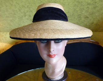 Garden Party Hat, antique hat, 1920, 1920s