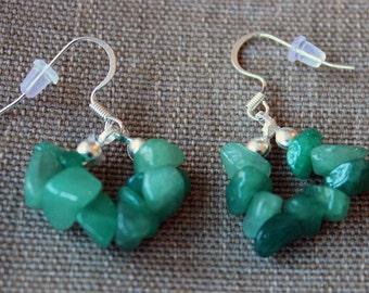 Earrings Sea Foam Green Pebbles
