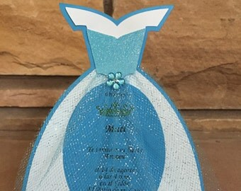 Handmade Frozen birthday invitations