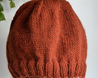Cinnamon Brown Wool Hat