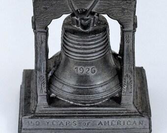 Vintage 1776-1926 Sesqui-Centennial Liberty Bell Paperweight Souvenir