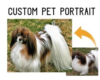 Dog canvas art, dog wall art, dog painting, dog artwork, photo to art, picture to art, photo transform, digital dog art, dog pdf, puppy art