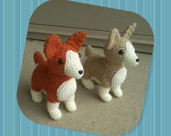 Plush Crochet Corgi Dog (Single)