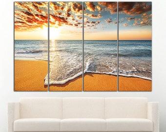 Beach wall art Beach wall decor Beach print Beach canvas Sunset wall decor Sunset wall art Sunset canvas Sunset print