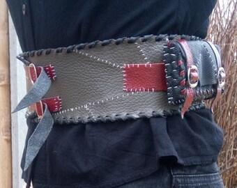 Leather Assassin Poisoner Alchemy Belt