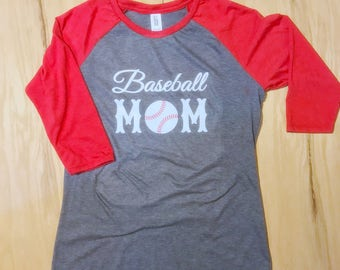 Baseball Mom jersey tee ( Avail in variety of colors)
