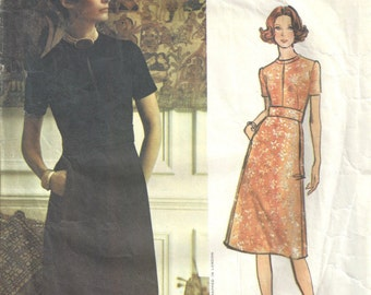 "1971 Vintage VOGUE Sewing Pattern B36"" DRESS (1695) By Jo Mattli"