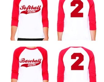 Softball Mom Shirt Raglan Jersey
