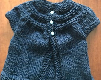 Baby Blue Sweater - 3-6 Months - Gorgeous - Handmade