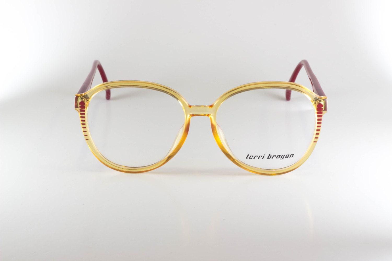 5adbf6c60c9 Terri Brogan Optyl 8574 30 Unisex 54-15 Vintage Glasses Vintage Eyeglasses  Brown NOS Deadstock