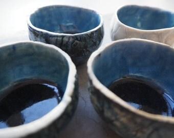Froissé porcelain cups
