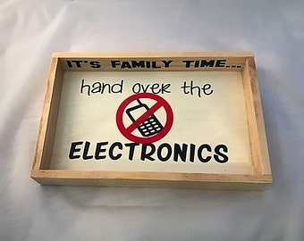 Hand Over Electronics Tray