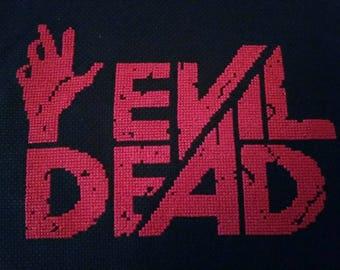 Evil dead cross stitch horror movie