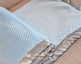 Cuzy Baby Shower Gift Set Baby Blanket Handmade Mother's Day Gift Set Baby Blanket New Mom Gift Newborn Gift Baby Boy Blanket Blue Baby Gift