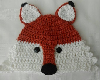 Fox Hat-Boys Winter Beanie- Girls Beanie- Winter Fox Hat