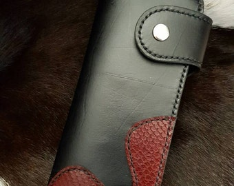 Ladies hancrafted leather wallet