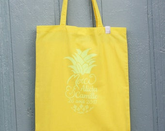 Pack 10 Totebags customizable Screenprinted by hand / guests, where, bridesmaids gifts, remember... / from 10 ex.