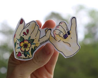 Pinky Swear Sticker