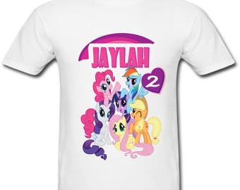 Personalized My Little Pony Ponyville Birthday shirt for Family