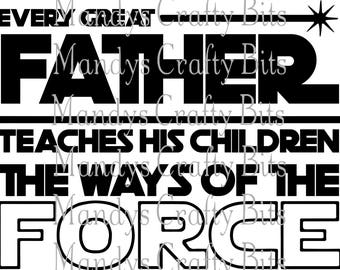 SVG and DXF A Father Teaches his Children The Way of the Force