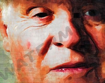 Anthony Hopkins Art Print - Hannibal Lecter Oil Painting Poster  LFF0185