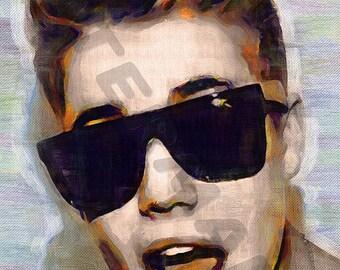 Justin Bieber Art Print - Oil Painting Poster  LFF0102