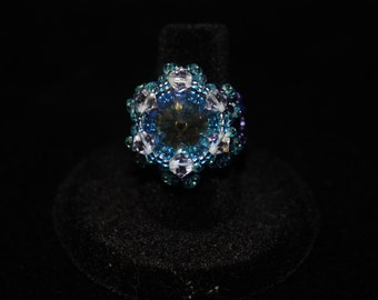 Purple  and Teal ring