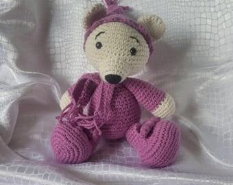 Bear Pajamas crocheted amigurumi plush