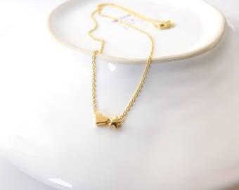 Chain * star & heart *.