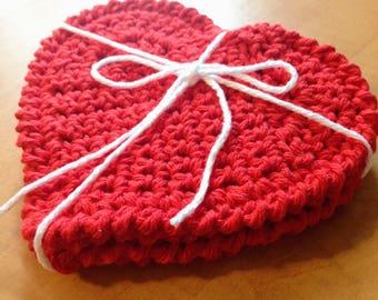 Valentine's Heart Coaster Set