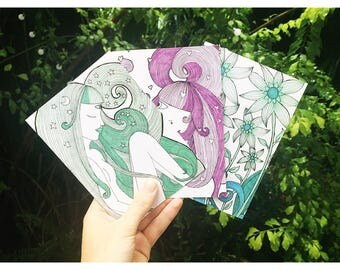 Illustrated Blank Cards By Sugarbeam Byron Bay