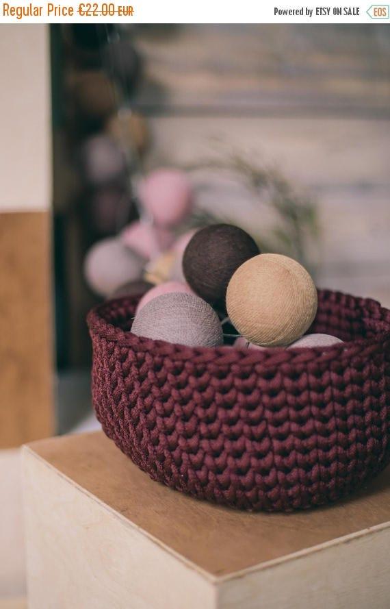 Storage bin/ gift basket/ storage bag/ handmade basket/ housewarming gift/ kids room decor/ new home gift/ home decor/ crochet basket