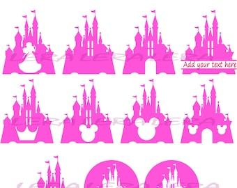 60 % OFF, Disney Castle Svg, Monogram Castle SVG Frames, Castle svg, png, eps, dxf, Castle Split Monogram Svg, Princess Castle, Silhouette