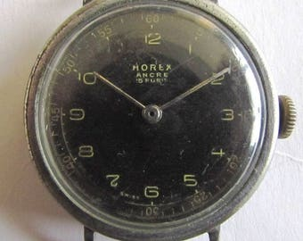 Rare Swiss Military men's wrist watch - HOREX ANCRE/WWII 1940's/Not Work