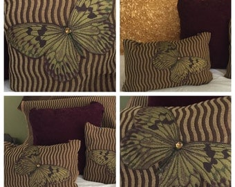 Tuscan BUTTERFLY pillow covers