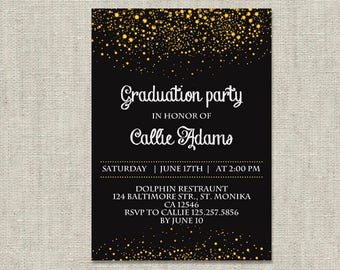 Graduation Party Invitation, Graduation Invitations, Graduation Party Invitations Template, High School Graduation, College Graduation